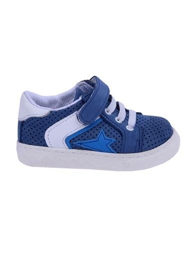 Kiko Kids Kiko Kids Teo S-2010 %100 Deri Orto pedik Cırtlı Kız/Erkek Çocuk Ayakkabı Mavi